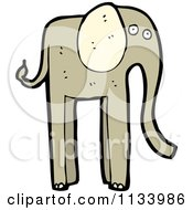 Cartoon Of A Brown Elephant 3 Royalty Free Vector Clipart