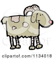 Cartoon Of A Goat 1 Royalty Free Vector Clipart by lineartestpilot