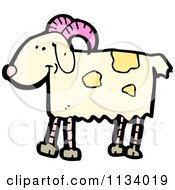 Cartoon Of A Goat 2 Royalty Free Vector Clipart by lineartestpilot