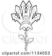Poster, Art Print Of Outlined Mad Marijuana Pot Leaf Mascot