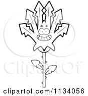 Poster, Art Print Of Outlined Happy Marijuana Pot Leaf Mascot