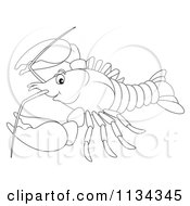 Cartoon Of A Cute Outlined Bee Royalty Free Clipart