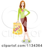 Woman Leaning And Carrying A Shopping Bag 2