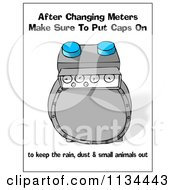 Cartoon Of A Gas Meter With Safety Text Royalty Free Clipart by djart