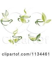 Cups Of Green Tea Or Coffee