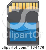Clipart Of A Memory SD Camera Card 1 Royalty Free Vector Illustration by Vector Tradition SM