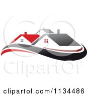 Clipart Of Houses With Roof Tops 15 Royalty Free Vector Illustration