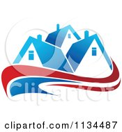 Clipart Of Houses With Roof Tops 14 Royalty Free Vector Illustration
