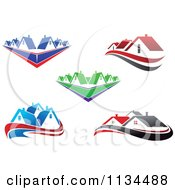 Clipart Of Houses And Roof Tops 3 Royalty Free Vector Illustration