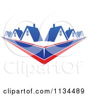 Clipart Of Houses With Roof Tops 11 Royalty Free Vector Illustration