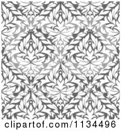 Clipart Of A Grayscale Diamond Damask Background Pattern Royalty Free Vector Illustration