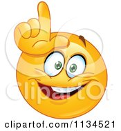 Cartoon Of An Emoticon Gesturing Loser Royalty Free Vector Clipart