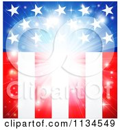 Clipart Of A Bright American Flag Burst Background Royalty Free Vector Illustration by AtStockIllustration