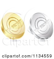 Clipart Of 3d Gold And Silver Top Secret Coin Icons Royalty Free Vector Illustration by Andrei Marincas