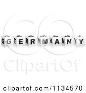 Clipart Of 3d Black And White Germany Cubes Royalty Free Vector Illustration by Andrei Marincas