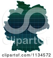 Clipart Of A Grid German Map Royalty Free Vector Illustration