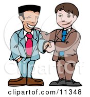 Two Businessmen Shaking Hands Clipart Illustration by AtStockIllustration