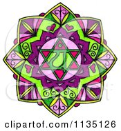 Clipart Of A Colorful Heart Chakra Royalty Free Illustration