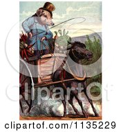 Clipart Of A Little Pig Went To The Market Royalty Free Illustration by Prawny Vintage