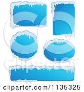 Cartoon Of Icy Winter Labels 1 Royalty Free Vector Clipart
