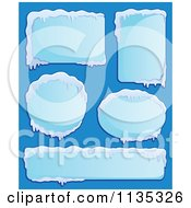 Cartoon Of Icy Winter Labels 2 Royalty Free Vector Clipart