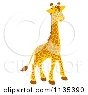 Cartoon Of A Cute Giraffe Royalty Free Vector Clipart by Alex Bannykh