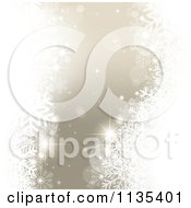 Clipart Of A Silver Magical Christmas Snowflake And Orb Background Royalty Free Vector Illustration