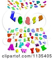 Clipart Of A Colorful 3d Alphabet Letter Background With The Word Learn Royalty Free CGI Illustration by MacX