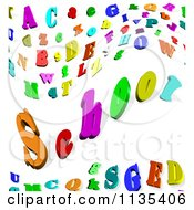 Clipart Of A Colorful 3d Alphabet Letter Background With The Word School Royalty Free CGI Illustration by MacX