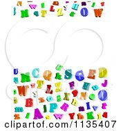Clipart Of A Colorful 3d Alphabet Letter Background With Copyspace 1 Royalty Free CGI Illustration
