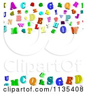 Clipart Of A Colorful 3d Alphabet Letter Background With Copyspace 2 Royalty Free CGI Illustration