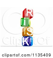 Clipart Of 3d Colorful Stacked Risk Letter Cubes Royalty Free CGI Illustration by MacX
