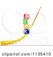 Clipart Of 3d Stacked Risk Letter Cubes On A Rope Royalty Free CGI Illustration by MacX