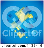 Clipart Of A Blue Background With Squares Royalty Free Vector Illustration