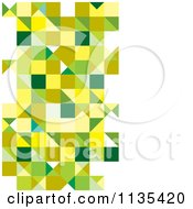Clipart Of An Abstract Green Triangle Background Royalty Free Vector Illustration