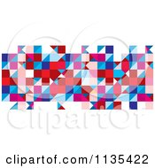 Clipart Of An Abstract Tricolor Pattern On White Background Royalty Free Vector Illustration