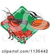 Crayfish Skeet Target Shooting Over A Diamond