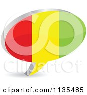 Clipart Of A 3d Guinea Flag Chat Balloon Royalty Free Vector Illustration by Andrei Marincas