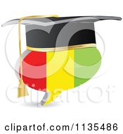 Clipart Of A 3d Graduation Guinea Flag Chat Balloon Royalty Free Vector Illustration by Andrei Marincas