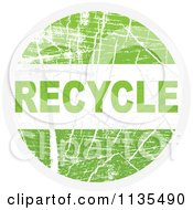Clipart Of A Round Grungy Green Recycle Icon Royalty Free Vector Illustration by Andrei Marincas