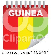 Clipart Of A Guinea Flag Calendar Royalty Free Vector Illustration by Andrei Marincas