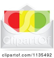 Clipart Of A Guinea Letter In An Envelope Royalty Free Vector Illustration