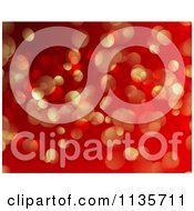 Clipart Of A Red And Gold Bokeh Light Sparkle Christmas Background Royalty Free Vector Illustration