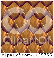 Clipart Of A 3d Seamless Orange Scales Texture Background Pattern Version 2 Royalty Free CGI Illustration