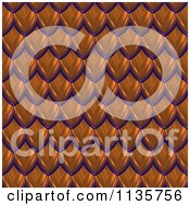 Clipart Of A 3d Seamless Orange Scales Texture Background Pattern Version 3 Royalty Free CGI Illustration