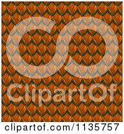 Clipart Of A 3d Seamless Orange Scales Texture Background Pattern Version 4 Royalty Free CGI Illustration