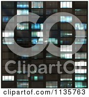 Clipart Of A Seamless Blue Skyscraper Window Texture Background Pattern Royalty Free CGI Illustration