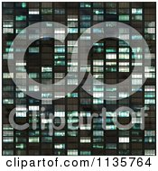 Clipart Of A Seamless Blue Skyscraper Window Texture Background Pattern Version 2 Royalty Free CGI Illustration