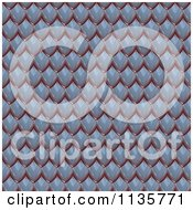 Clipart Of A 3d Seamless Blue Scales Texture Background Pattern Royalty Free CGI Illustration