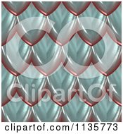 Clipart Of A 3d Seamless Blue Scales Texture Background Pattern Version 3 Royalty Free CGI Illustration